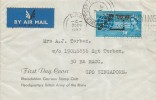 1963, Commonwealth Pacific Cable (Compac), Rheindahlen Garrison Stamp Club FDC, When Replying Please use the Correct Address FPO Slogan + Singapore Field Post Office Receiving cds