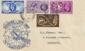1949 Universal Postal Union, Illustrated Souvenir FDC, Arbroath Angus cds