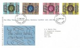 1977 Silver Jubilee, Post Office FDC, Overprinted Post Office Telecommunications Jubilee Exhibition Guildford 19th - 28th May 1977