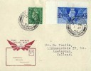 "1948, First Post War ""All-Up"" Mail to Europe, First Day of Service Cover, 3d Letter Rate, Sutton Coldfield Birmingham cds"