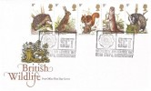1977 British Wildlife, Post Office FDC, SCT Bear Steps Shrewsbury H/S