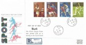 1980 Sporting Anniversaries, Registered Royal Mail FDC, Neath West Glam. cds