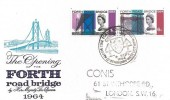 1964 Forth Road Bridge, Illustrated FDC, Forth Road Bridge South Queensferry West Lothian H/S