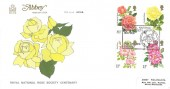 1976  Roses, Abbey FDC, The Royal National Rose Society Oxford H/S