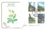 1979 British Flowers, Cotswold Official FDC, Floral City Exhibition Bath H/S, Signed by John Abrams City Gardener West Country TV