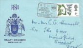 1967 Wild Flowers, Health Congress Eastbourne Official FDC, 4d Stamp only, RSH Health Congress Eastbourne Sussex H/S