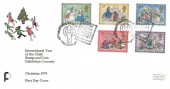 1979 Christmas, David Fletcher Official FDC, International Year of The Child Stamp & Coin Exhibition Coventry H/S