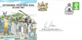 1997 Withdrawal from Hong Kong Cover, The Transfer of Sovereignty of Hong Kong British Forces 8888 Postal Service H/S, signed by the Governor Rt Hon Chris Patten
