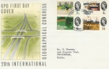 1964 20th International Geographical Congress Non-Phosphor FDC, First Day of Issue GPO Philatelic Bureau London EC1 H/S