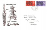 1965, Commonwealth Arts Festival, Holmes Tolley Arts Centre FDC, Stratford Upon Avon Warwickshire cds