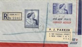 1948 Silver Wedding, Registered Airmail to New York FDC, Strand BO WC2 cds