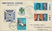 1966 Robert Burns, Free Scotland Illustrated FDC + Labels front & Back, Glasgow H/S