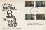 1965 Sir Winston Churchill, Holmes Tolley FDC, Phosphor + Ordinary Sets, Bladon Oxford cds