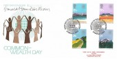 1983, Commonwealth, Save the Children Fund FDC, First Day of Issue London SW H/S, Signed by Stamp Designer