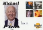 2000 Fire & Light Westminster Official FDC. Signed by Michael Fish