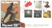 2014 The Great War, Buckingham Cover Official FDC, Centenary of the First World War We Will Remember Them London SW1 H/S