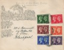 1940 Adhesive Postage Stamp Centenary, Mulready Style Illustrated FDC, Blackpool Lancs. 3 cds