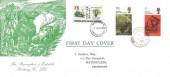 1970 Literary Anniversaries, Ravenglass & Eskdale Railway Co. FDC, 1/6d Wordsworth & 5d Dickens stamp, Ravenglass Cumberland cds