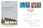 1966 Robert Burns, GPO FDC, Kirkliston West Lothian cds