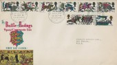 1966 Battle of Hastings, Connoisseur FDC, Battle of Hastings 900th Anniversary Battlefield Battle Swords Up H/S