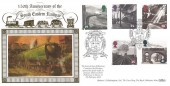 1994 Age of Steam, Benham Official Gold 500 FDC, South Eastern Railway Folkestone Kent H/S