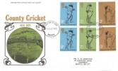 1973 County Cricket Centenary, Post Office FDC, Bristol FDI