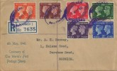 1940 Adhesive Postage Stamp Centenary, Registered Display FDC, Purple Registered Norwich Oval cds