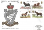 1978 Shire Horse Society, Royal Irish Rangers Official FDC, Royal Irish Rangers BF 1621 PS H/S