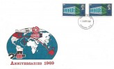 1969 Notable Anniversaries, Illustrated FDC, Pair of 9d Europa Stamps, London WC FDI