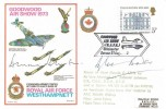 1973, Goodwood Air Show RAF Westhampnett Cover, Goodwood Air show Chichester Sussex H/S. Signed by Johnnie Johnson & Douglas Bader