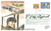 1979, British Airways Test Flight Series TP1 Harry G Hawker Cover, Flown Melbourne to London Heathrow, Moorabbin Victoria Australia cds, Signed by Sir Tom Sopwith
