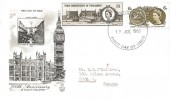 1965, 700th Anniversary of Parliament, Stuart FDC, Brighton Sussex FDI