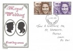 1973 Royal Wedding, J M Toomes FDC, Preston Lancs. FDI