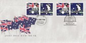 1988 Australian Bicentenary, Pair of Australia Post FDC's, Double dated with Australian Issue, Brighton E. Sussex FDI, + Brighton Victoria H/S