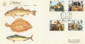 1981 Fishing, Abbey FDC, First Day of Issue Hull H/S