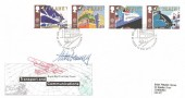 1988 Transport & Communications, Royal Mail FDC, First Day of Issue Glasgow H/S, Signed by the Stamp Designer Mike Dempsey