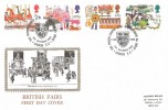 1983, British Fairs, Historic Relic FDC, The Priory Church of St. Bartholomew the Great London EC H/S