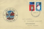 1966 Christmas, Hand Painted FDC, Middlesbrough Yorkshire FDI