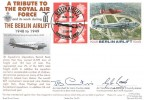 1999 £1.04 Berlin Airlift Commemorative Label, Royal Naval Covers Official FDC, Berlin Airlift a Tribute to the RAF Oakington, Cambs. H/S, Signed