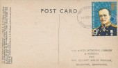 1972 Polar Explorers, The Oates Memorial Library & Museum Post Card, 9p Scott Stamp only, Basingstoke Hants. FDI