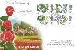1967 Wild Flowers, Connoisseur FDC, 4 x 4d stamps only, London WC FDI. signed by the Stamp Designer Rev. W Keble Martin