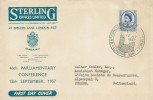 1957 Parliamentary Conference, Sterling Insurance FDC, 46th Parliamentary Conference London SW1 H/S