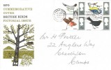 1966 British Birds, GPO FDC, Visit Cambridge Slogan