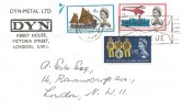 1963 Lifeboat Conference, DYN-Metal Ltd FDC, London WC First Day of Issue Slogan