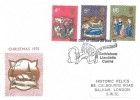 1970 Christmas, Historic Relics FDC, First Day of Issue Bethlehem Llandeilo Carms. H/S