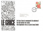 1976 Roses, Le Grice  Roses Ltd. FDC, 8½p Elizabeth of Glamis Rose Stamp only, Norwich Norfolk FDI