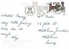 1966 Battle of Hastings, Judges Postcard of The Hastings Embroidery, 4d  stamp only, Hastings Popular with Visitors since 1066 Slogan