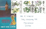 1967 Wild Flowers, Big Ben Special Issue FDC, Paignton Devon cds