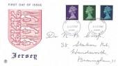 1967 3d, 9d, 1/6d QEII Definitive Issue, Stuart Jersey FDC, Jersey Channel Islands FDI