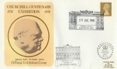 1974 Churchill Centenary Exhibition Somerset House Queens Visit Cover